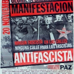Manifestación antifascista
