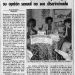 1991 Plataforma lesbianismo en prensa