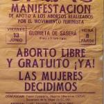 Cartel: aborto libre