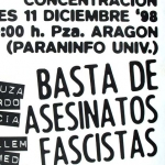Basta de asesinatos fascistas