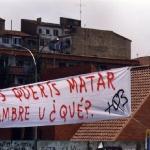 Pancarta en la Universidad
