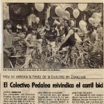 Colectivo Pedalea reivindica el carril bici