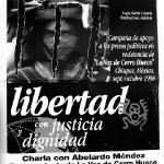 Chiapas. Campaña apoyo a presos políticos