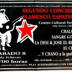Segundo concierto flamenco zapatista