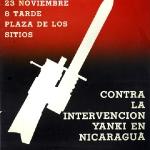 Contra la intervención yankee en Nicargua