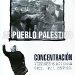 Basta de asesinar al pueblo Palestino