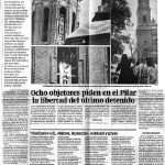 Objetores en la torre del Pilar