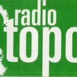 Radio Topo. Pegatina