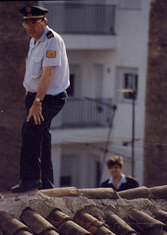 Poli en el tejado