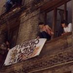 Pancarta en cole San Agustín