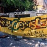 Pancarta de apoyo a la insumisión
