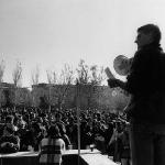 Manifiesto durante fiesta en el Campus